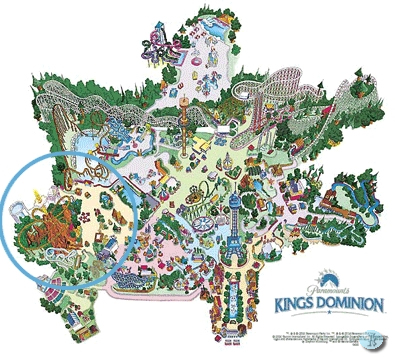 TR: The Ride? to Open at Paramount's Kings Dominion in 2005 | News Kings Dominion Map on mt. olympus water & theme park map, universal studios map, carowinds map, kingda ka map, silver dollar city map, six flags map, virginia map, geauga lake map, canada's wonderland map, richmond map, world map, amusement park map, valley fair map, cedar point map, knott's berry farm map, nickelodeon universe map, printable kings island 2014 map, dorney park map, nagashima spa land map, canobie lake park map,