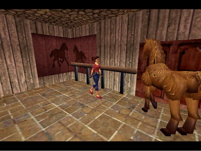 Lara With Horse Bonus