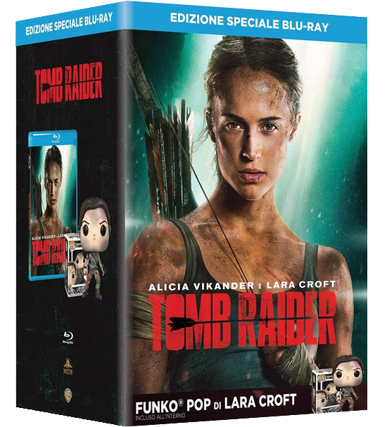 Tomb Raider blu-ray + Lara Croft Funko Pop bundle