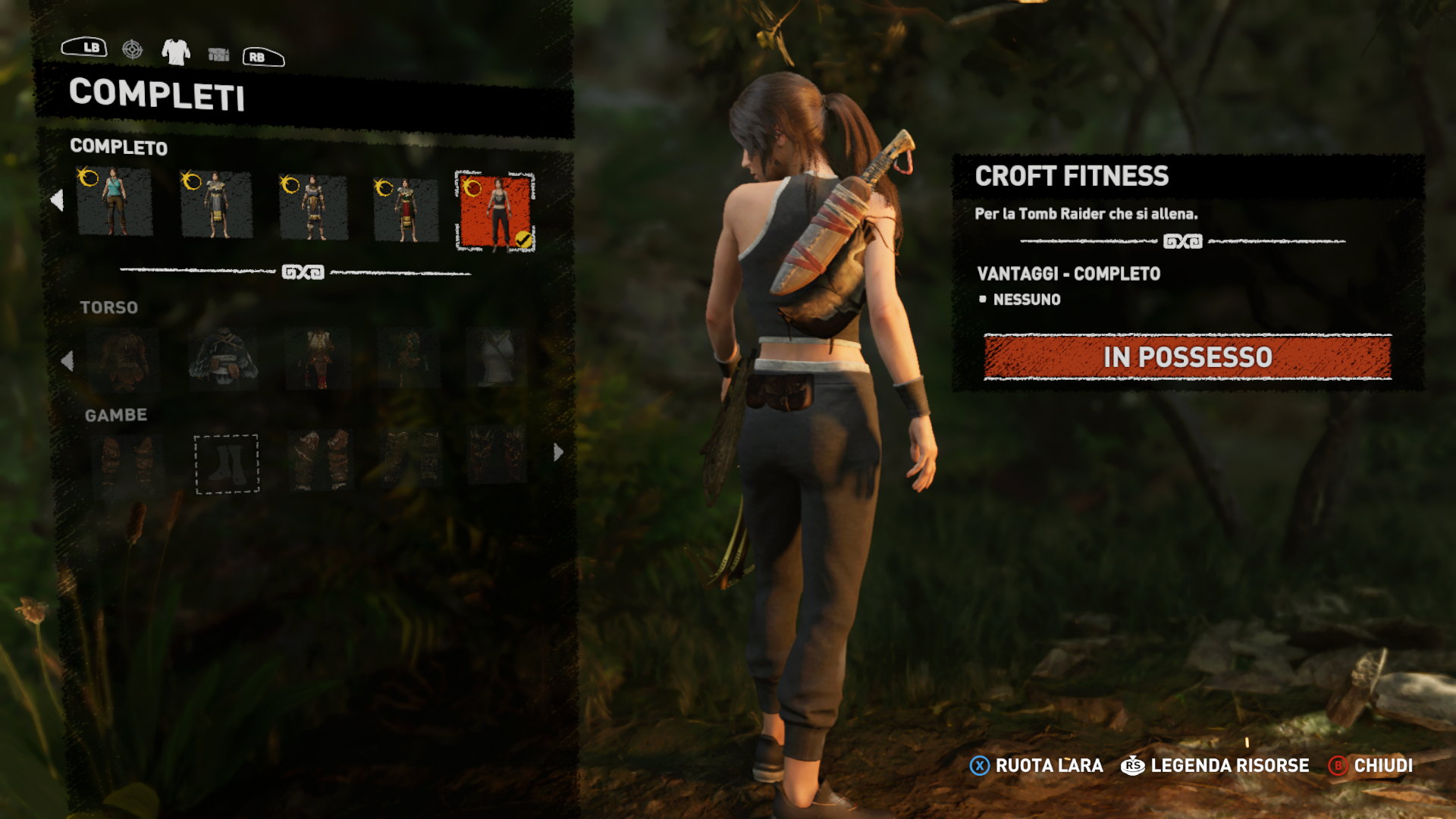 Shadow of the Tomb Raider Croft Fitness Outfit